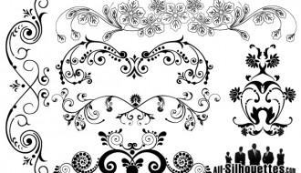 decorazioni floreali – design floral ornaments