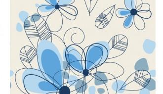 sfondo fiori azzurri – blue floral background