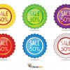 6 cartellini saldi – sale label