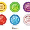 6 cartellini saldi – sale label