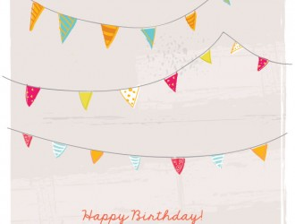 happy birthday bunting card – buon compleanno