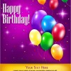 Happy Birthday Postcard – buon compleanno palloncini