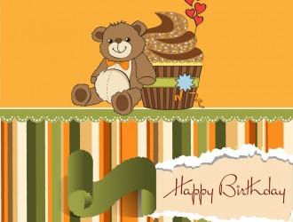 happy birthday orsetto cupcake – buon compleanno