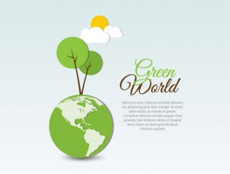 mondo verde con alberi – green world