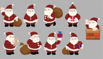 9 sagome Babbo Natale – Santa Claus silhouettes
