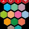 calendario 2014 esagoni – hexagons calendar