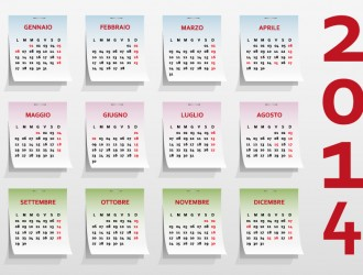 calendario post-it – notes calendar 2014