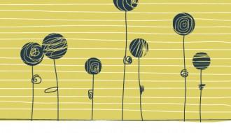 fiori stilizzati – flowers in a field