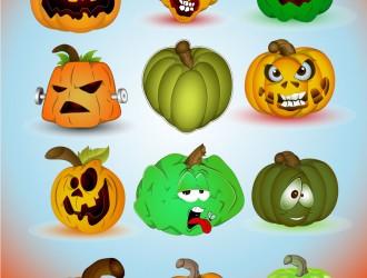 12 Halloween pumkins – zucche