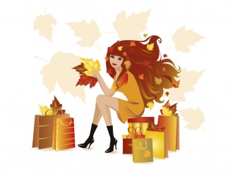 ragazza autunno spesa – autumnal shopping girls