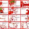 12 Christmas Cards Set – bigliettini Natale