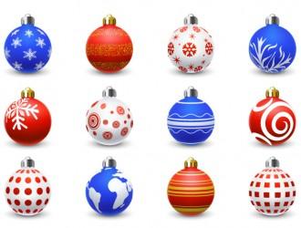 12 palline Natale – Christmas Balls Ornaments
