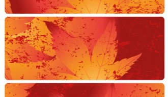 3 banner foglie autunno – autumn leaves banner