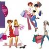 6 sagome ragazze – shopping girls