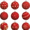 9 palline rosse Natale – Christmas Balls Vector Set
