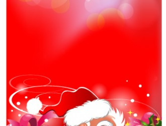 Babbo Natale regali – Santa Claus face, gifts