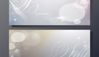 banner fumetto – shiny bubble banners