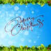 cornice Natale – Christmas Frame on Blue Background
