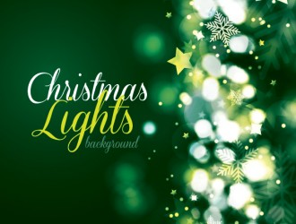 sfondo Natale verde – Christmas lights background