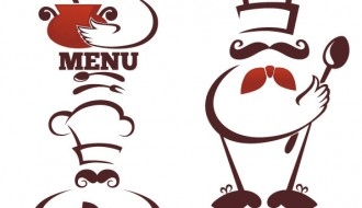 3 chef logos – menu