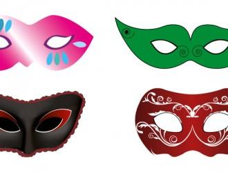 4 maschere carnevale – carnival masks