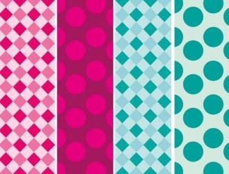 4 pattern quadrati cerchi – square circle pattern