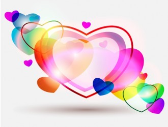 cuori – abstract colorful hearts Valentines Day