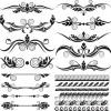 elementi decorativi, bordi –  Retro Design Elements