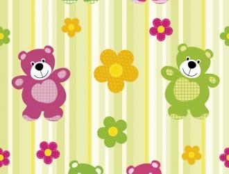 pattern orsi fiori – baby bear flowers