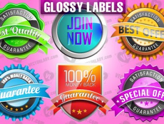 6 etichette lucide – glossy labels