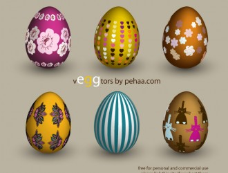 6 uova di Pasqua – 6 decorated Easter eggs
