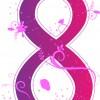 8 marzo – purple floral 8 march
