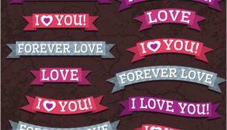 banner San Valentino – Valentine ribbons banner