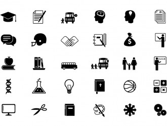 30 icone educazione scuola – educational icon set