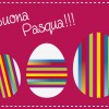 buona Pasqua 3 uova strisce colorate – colored Easter Eggs