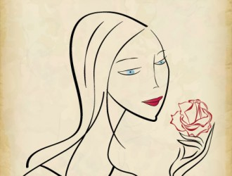 donna con rosa – women with rose