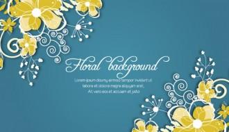 sfondo fiori – vintage spring floral background
