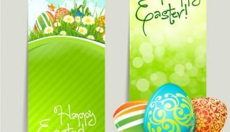 2 banner Pasqua – Easter green banner