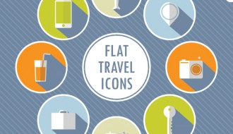 icone viaggio – flat travel icons