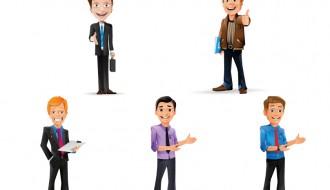 5 uomini affari – 5 business men