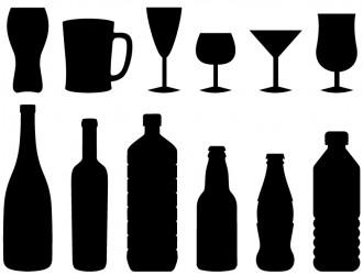 6 bicchieri 6 bottiglie – glasses bottles