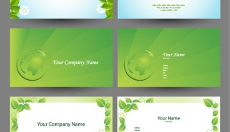 6 bigliettini verdi – elegant green natural business cards