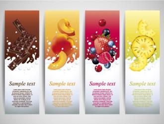 banner latte frutta cioccolata – milk drink banner
