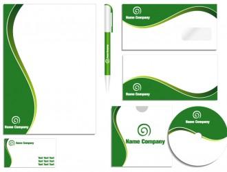 green corporate identity – identità aziendale verde
