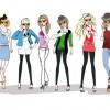 6 sagome ragazze – 6 different fashion girls