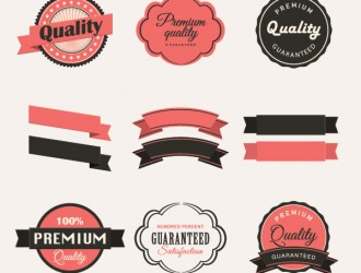 12 vintage labels collection