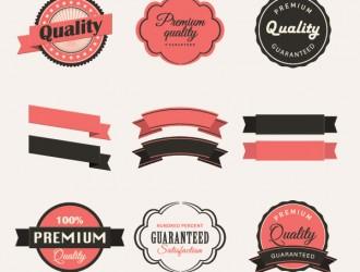 12 vintage labels collection
