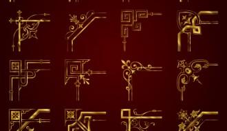 16 angoli dorati – golden corners ornaments