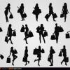 20 sagome donne – women shopping silhouettes
