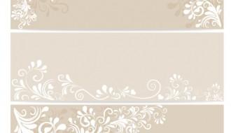 3 eleganti banner floreali – elegant floral ornament banner